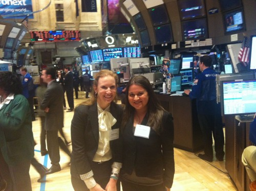 IPA's Brooke Berman and Rebecca Rouse at the NYSE