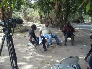 Filming a Sierra Leone election debate