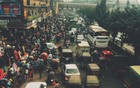 A busy street in Dhaka