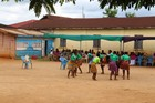 Ghanaian girls dancing in drama presentation