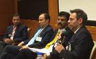 One of the panels of speakers at the Evidence in Financial Inclusion event.