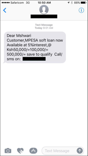 SMS fraud message