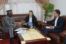 Picture of the meeting with the Minister of Health of Burkina Faso.