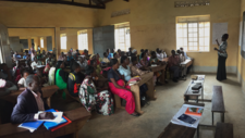 Photo of classroom in Uganda taken during Elevate project.