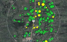 An arial map of electrical power supply in Kenya