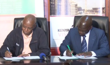 Signing of the Vision 2030 MOU with the Kenyan government