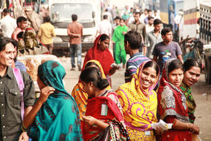 A group of garment workers in Bangladesh