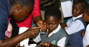 School-based deworming program
