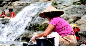 A woman washing her hands in the Philippines. Credit: Yujin Pante / Ongen Photography via Flickr