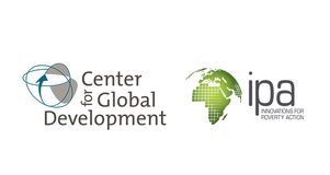 Logos for the Center for Global Development and Innovations for Poverty Action side by side