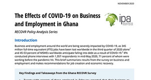 Thumbnail Image of Title Page of Brief: The Effects of COVID-19 on Business and Employment in Ghana