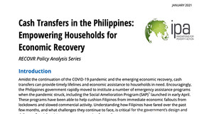 Thumbnail Image of Title Page of Brief: Cash Transfers in the Philippines: Empowering Households for Economic Recovery