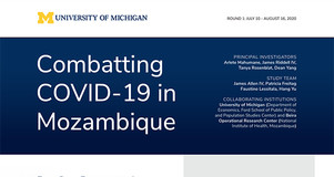 Thumbnail Image of Title Page: Summary Report on Combatting COVID-19 in Mozambique