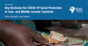 Thumbnail Image for First Page of Evidence Review Brief: Key Decisions for COVID-19 Social Protection in Low- and Middle-Income Countries