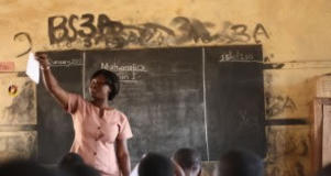 Teacher Community Assistant in her classroom in Ghana