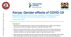 COVID Kenya Gender Brief Preview Image - from Dataverse
