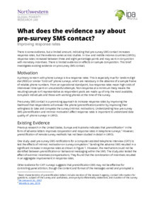 Pre-Contact Notifications Evidence Brief Thumbnail Image