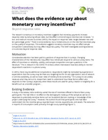 Monetary Survey Incentives Evidence Brief Thumbnail Image