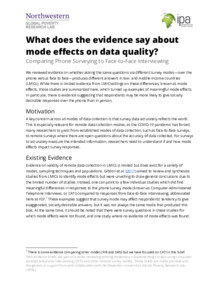 Mode Effects Evidence Brief Thumbnail Image