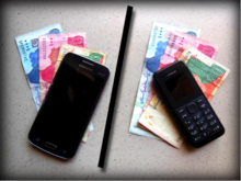 Mobile phones are common ways for people to receive cash transfers