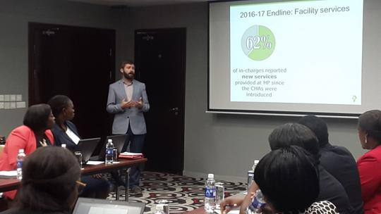 Andrew Secor presents IPA's findings in the CHA study